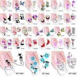 Наклейки для ногтей, 30 вариантов